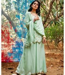 Rati green embroidered cotton silk kurta-sets