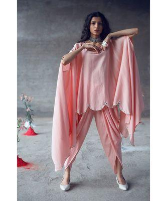 Pink    Rambha    Kaftaan Set