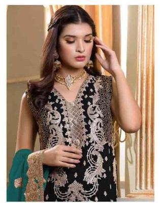 Black Pakistani Style Designer Suit