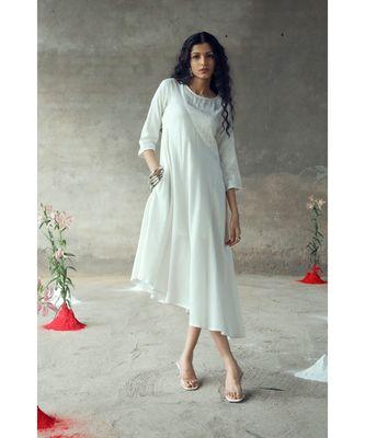"""Supriya""White Umbrella Dress"