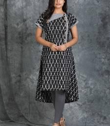 Ikkat Textured Cotton Kurti