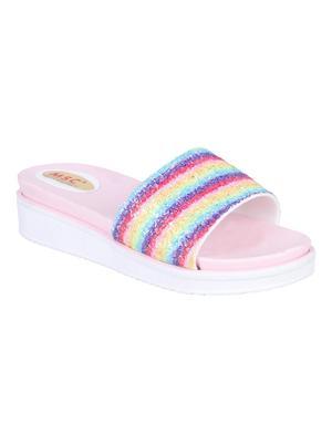 rubber Stylish Fancy multi color Platform Sandal For Women