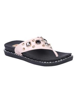 leatherette Stylish Fancy white Platform Sandal For Women