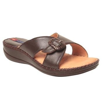Women Brown Leather Sandal