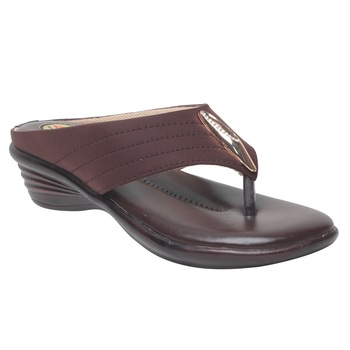 Women Brown Synthetic Sandal