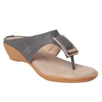 Women Grey Synthetic Sandal