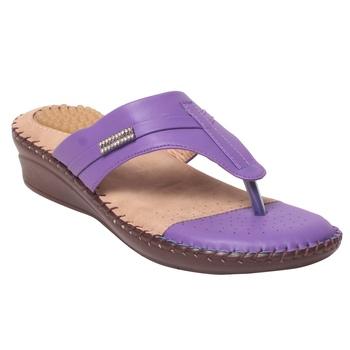 Women Synthetic Purplee Sandal