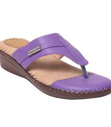 Women Synthetic Purplee Sandal