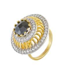 Black With Diamond Stylish Smart Look Ring
