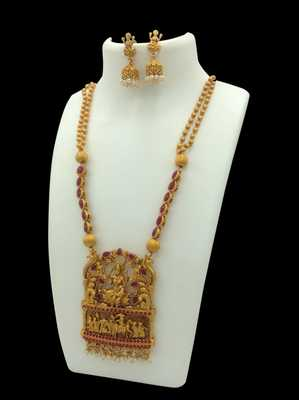 Gold TEMPLE JEWELLERY SET