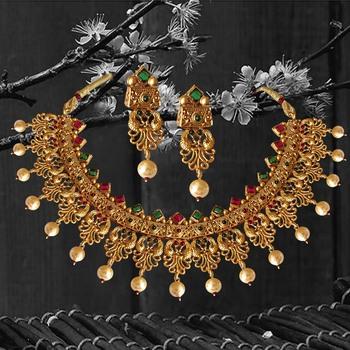multicolor emerald necklace-sets