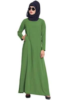 Jade Green Plain Nida Abaya