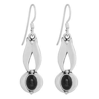 Black crystal earrings