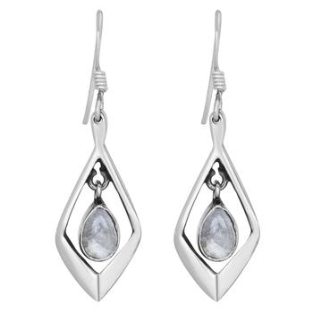 Multicolor moonstone earrings