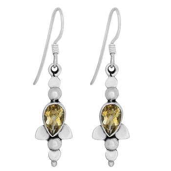 Yellow citrine earrings