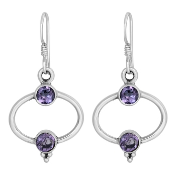 Purple amethyst earrings