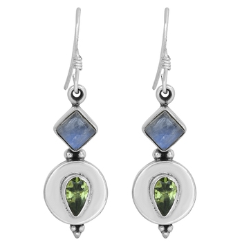 Multicolor peridot earrings