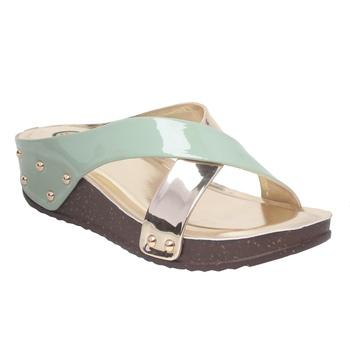 Women Green Synthetic Sandal