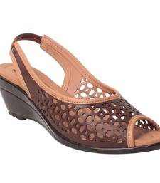 women Synthetic Brown Sandals