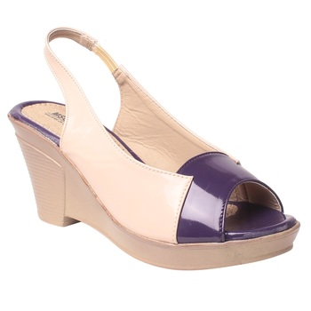 women's Purple Synthetic leather Wedges