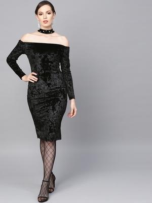 Black Velvet Choker Bodycon Dress