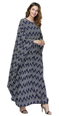 Beach Wear Bat Wing Style Printed Kaftan For Women