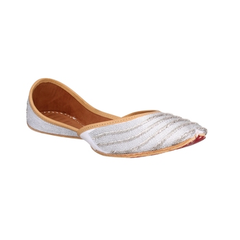 silver  slip on  Juti for Women