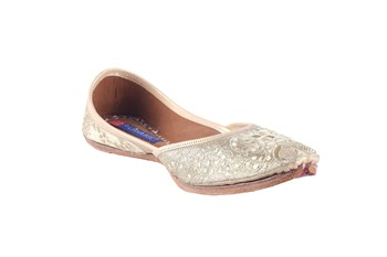 Women Embroidered Genuine Leather  slip on