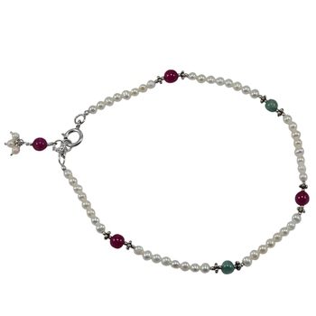 Multicolor Jade Anklets