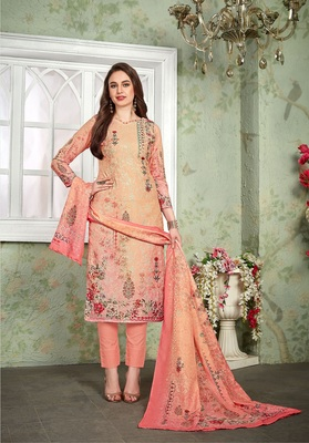 Pink digital print cotton salwar