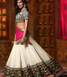 Buy White net and Red georgette worked actress lahenga with Worked  blouse bollywood-lehenga online