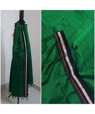Green handloom khun/khana dupatta