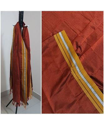 Rust orange handloom khun/khana dupatta