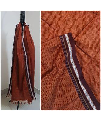 Brown handloom khun/khana dupatta
