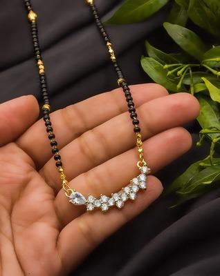 Multicolor diamond mangalsutra