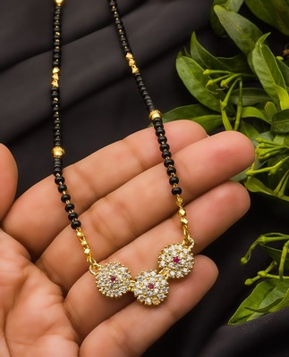 Multicolor diamond mangalsutra