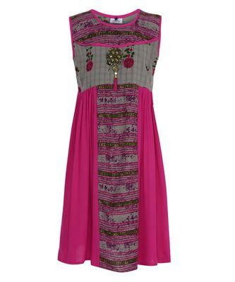pink cotton regular kurti