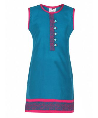 blue cotton regular kurti