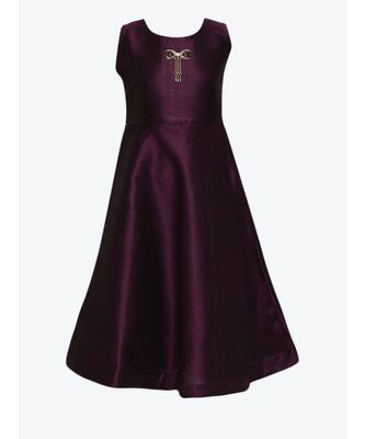 purple silk blend gown