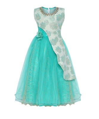 Blue Net Party Gown