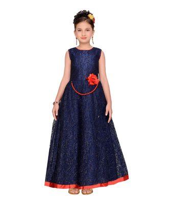 blue net gown