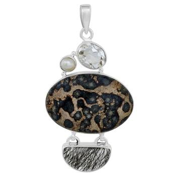 Multicolor quartz pendants