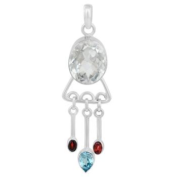 Multicolor topaz pendants