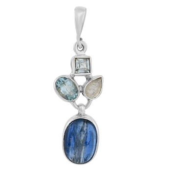 Multicolor moonstone pendants