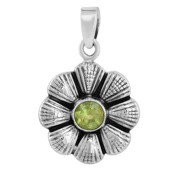 Green peridot pendants