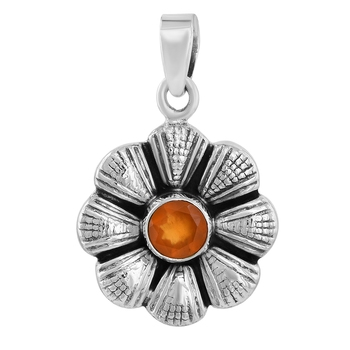 Orange carnelian pendants
