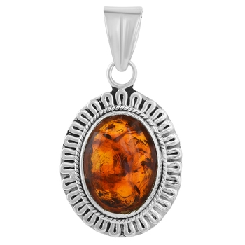 Multicolor amber pendants
