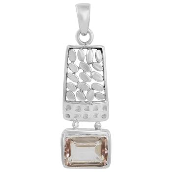 Pink quartz pendants