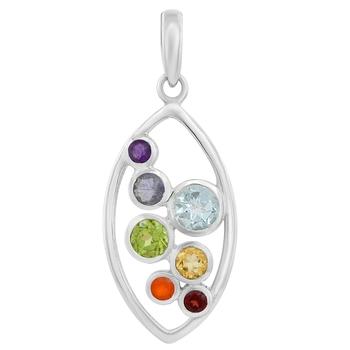 Multicolor amethyst pendants