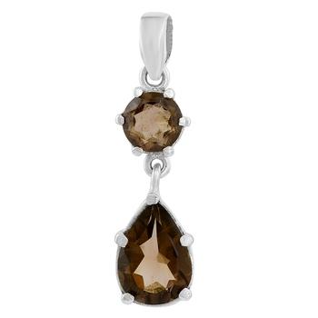 Brown quartz pendants